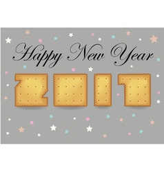 Happy New Year 2017 Crackers font vector image vector image