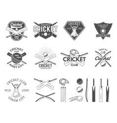 Set of cricket sports logo designs Cricket vector image vector image