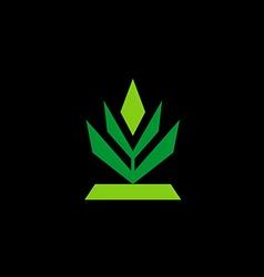 tree abstract shape logo vector image