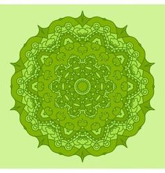 Green Round Decorative Design Element vector image