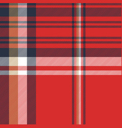 Red plaid fabric texture seamless pattern vector