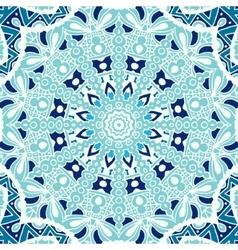 winter blue Seamless ornametal pattern vector image