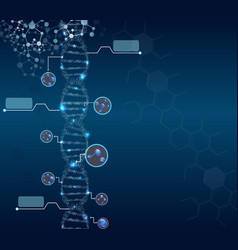 abstract concept of biochemistry with dna molecule vector image