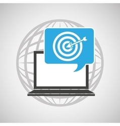 globe computer targget communication vector image