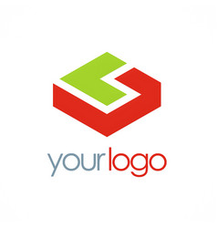 3d shape business logo vector image vector image