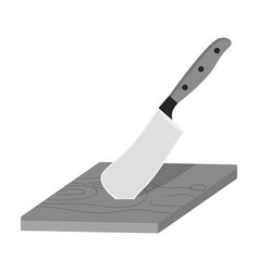 board and cleaver for food processing food and vector image vector image