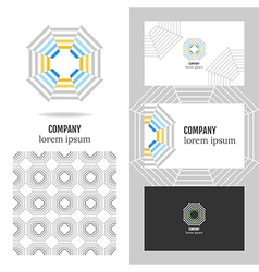 Business logo for company vector image vector image