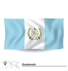 Flag of Guatemala vector image vector image