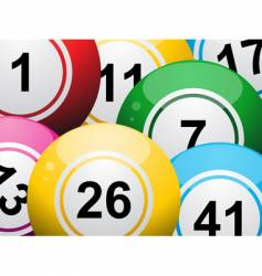 lottery balls vector image