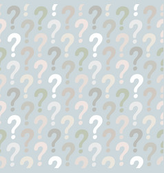 question mark seamless pattern vector image