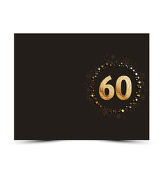 60 years anniversary card vector image