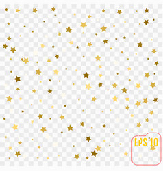 abstract modern pattern with gold stars shiny vector image