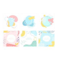 Abstract pastel geometric shapes lines circles set vector