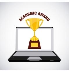academic award design vector image