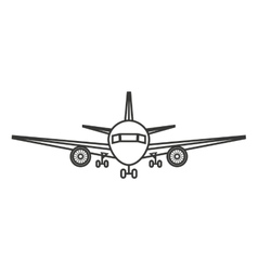 airplane silhouette isolated icon design vector image