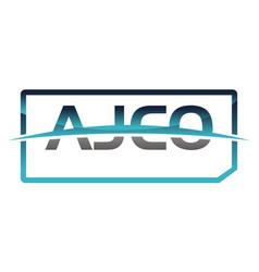 ajco logo design template vector image