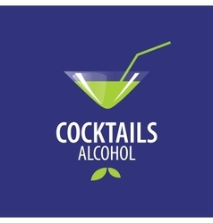 Alcoholic cocktails logo vector