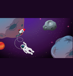 an astronaut in space vector image