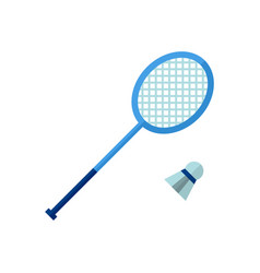 badminton icon on white isolated vector image