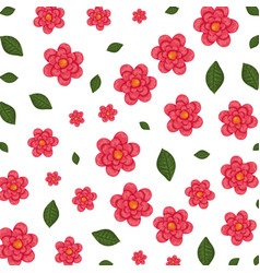 Beautiful flowers and leafs pattern vector