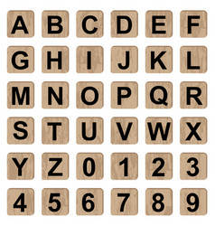 board game alphabet letters and numbers vector image