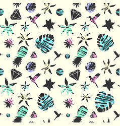 Bright summer fashion seamless pattern with vector