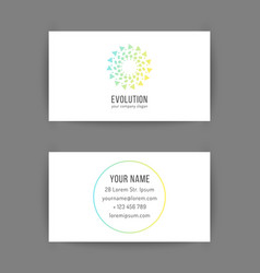 business card template with creative geometric vector image