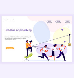 business leader work in team website vector image