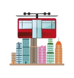 Cable car vehicle and transportation design vector