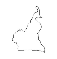 Cameroon map of black contour curves on white vector