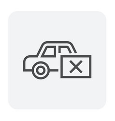Car test icon vector