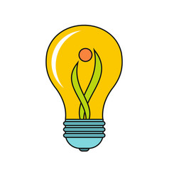 Cartoon lamp icon vector