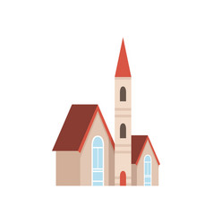 christian church building design element of urban vector image