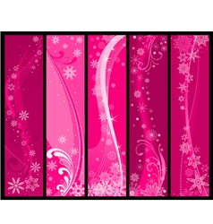 christmas and winter banners vector image