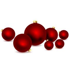christmas balls set vector image
