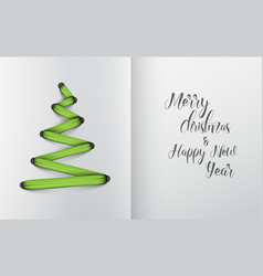 christmas tree made from green lace vector image