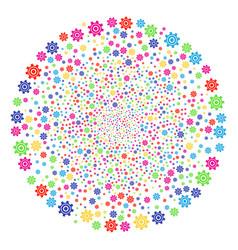 cogwheel decoration spheric cluster vector image