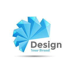 Concept logo design template Science technology vector image