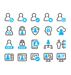 digital account icon set vector image