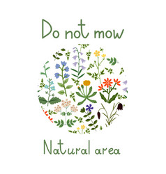 Do not mow vector