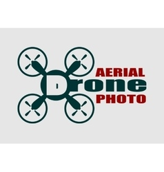 Drone icon Aerial photo text vector image