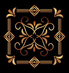 Elegant antiquarian frame in art deco style vector