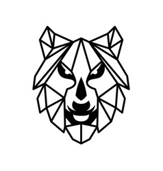 face wolf vector image