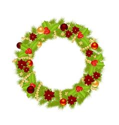 Fir wreath 2311 vector