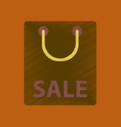 Flat shading style icon package sale vector