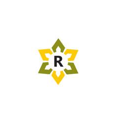 Flower infinity letter r vector