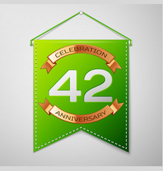 forty two years anniversary celebration design vector image