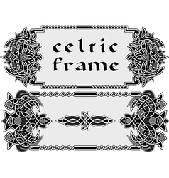 Frame in Celtic style vector image