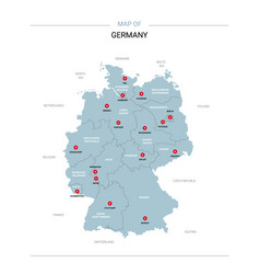 Germany map with red pin vector