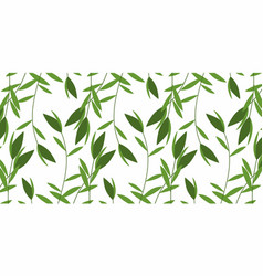 Green weed pattern vector